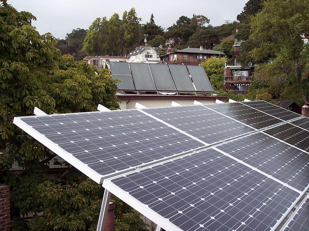 Solar panels in California.
